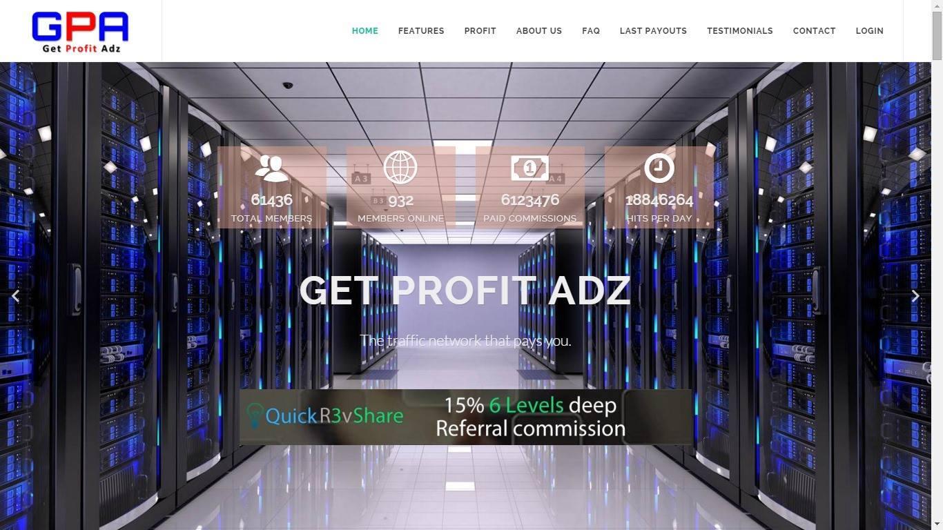 GetProfitAdz 2.0 / GPA 2.0 - Passiv Geld verdienen