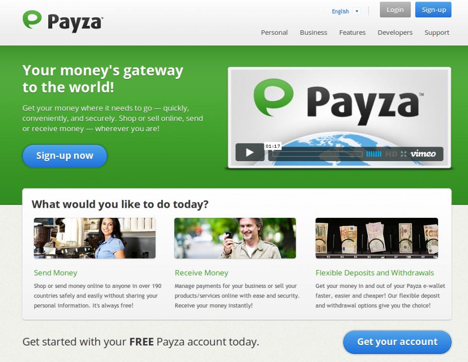Payza eWallet – Weltweit Geld senden & empfangen