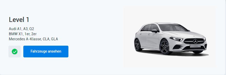 EXW Auto Programm Level 1 > Audi A1, A3, Q2 BMW X1, 1er, 2er Mercedes A-Klasse, CLA, GLA