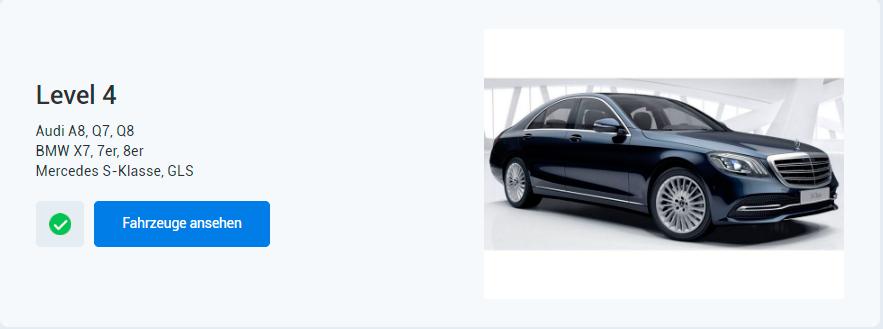 EXW Auto Programm Level 4 > Audi A8, Q7, Q8 BMW X7, 7er, 8er Mercedes S-Klasse, GLS