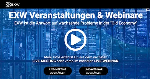 EXW Veranstaltungen & Webinare für 2020